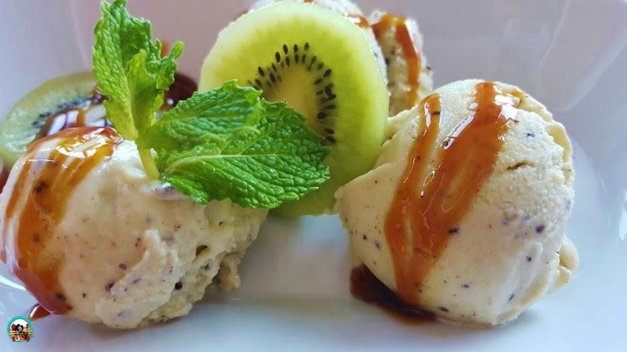 Receta: Helado de kiwi con yogurt
