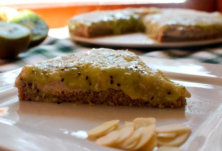 Receta: Tarta de castañas con kiwi y plátano
