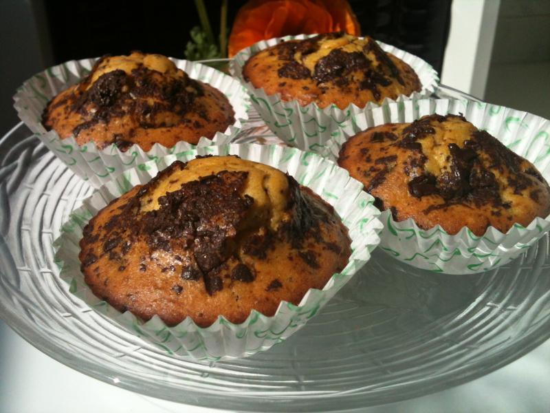 Receta: Muffins de kiwi con trocitos de chocolate