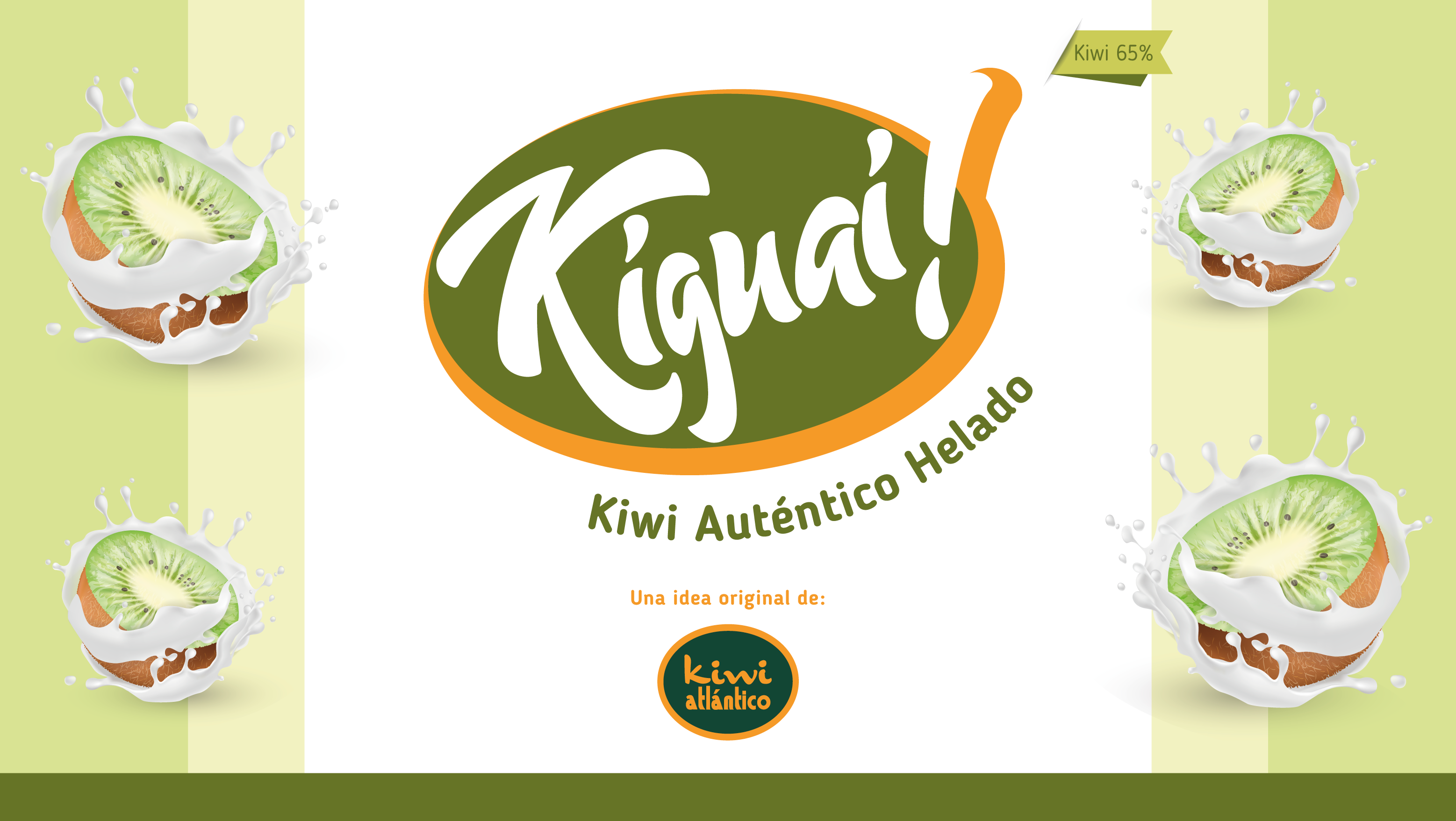 Helado de kiwi